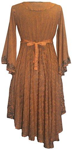 Del Ginocchio Ruggine Bambino D Bambola Romana Lunghezza Campana Chiarore 117 Manica Medievale Womens Agan Commercianti TzPqCwq