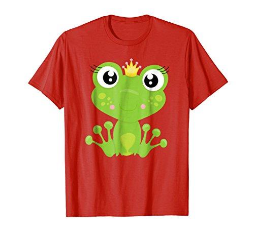 Cute Unique Cartoon Frog Prince Art T-Shirt & Gift G999985