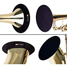 """Protec Instrument Bell Cover, 3.75-5"""", Ideal for Trumpet, Alto, Bass Clarinet, Soprano Saxophone, Model A321"""