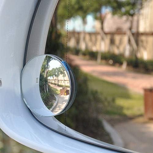 leenBonnie HD Piccolo Specchio Rotondo Senza Bordi Vetro perimetrale Trasparente Membrana antideflagrante Design Estremamente Durevole Rotondo