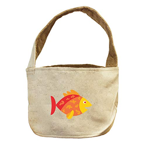 Style in Print Little Orange Fish Animals Canvas and Burlap Storage Basket by Style in Print