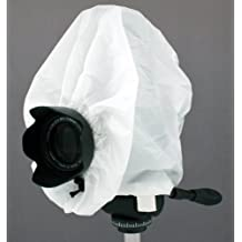 Camera Rain Cover For DSLR / SLR cameras Protects against Rain, Snow, and Dust. For use with Canon, Nikon, Olympus, Sony, Fuji, Pentax, Contax, Leica, Mamiya, Hasselblad, Bronica and more