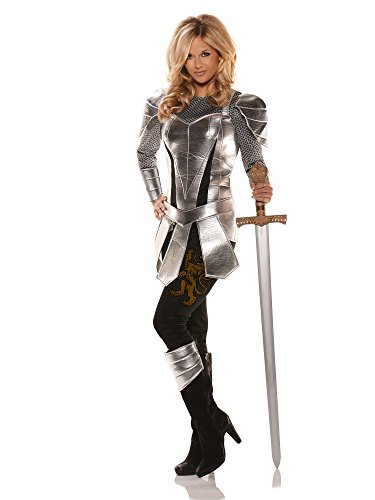 Pizzaz! Women's All Knight Costume, As Shown, (Lady Knight Costumes)
