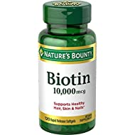 Nature's Bounty Biotin 10,000 mcg, Rapid Release Softgels,120 ea