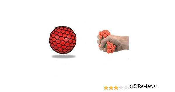 Bola de goma antiestrés con malla, efecto racimo de uvas, color ...