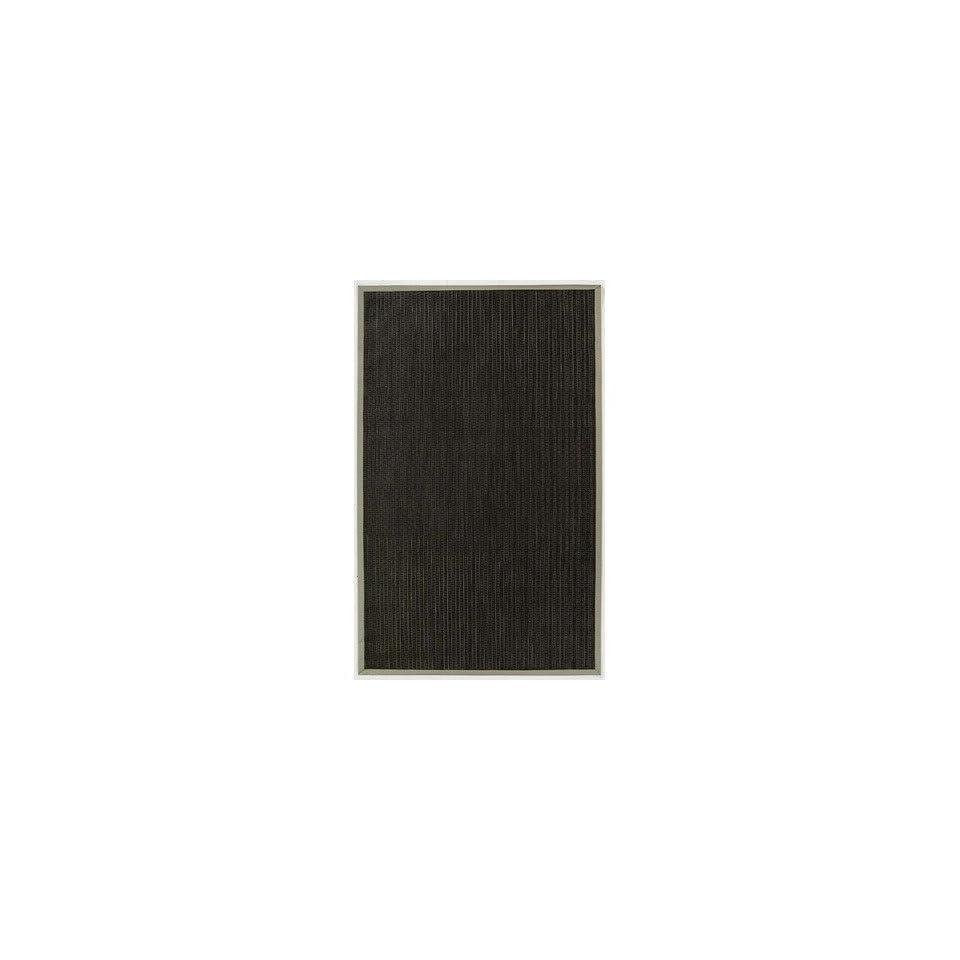 Black Indoor / Outdoor Rug Size 6 x 9