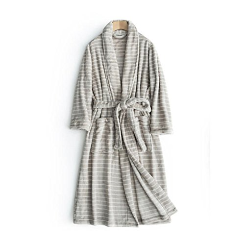 Comfortable Women's Thick Plush Coral Velvet Long Bathrobe w