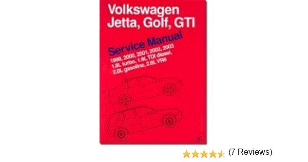 Volkswagen jetta golf gti service manual 1999 2003 18l turbo volkswagen jetta golf gti service manual 1999 2003 18l turbo 19l tdi diesel 20l gasoline 28l vr6 bentley publishers 9780837603230 amazon fandeluxe Image collections