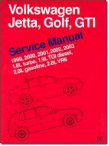 Volkswagen jetta golf gti service manual 1999 2003 18l turbo volkswagen jetta golf gti service manual 1999 2003 18l turbo 19l tdi diesel 20l gasoline 28l vr6 bentley publishers 9780837603230 amazon fandeluxe Choice Image