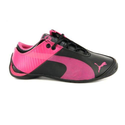 Puma Girls Future Cat M1 Black Pink Sneakers 13 (Future Cat M1 Sneaker)