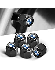 YILUMAI AUTO Custom-Fit for BMW Tire Valve Caps(5 Pack), Universal Stem Covers for Cars, Airtight Seal Dust Proof, with O Rubber Seal   Screw-On, Easy-Grip Use