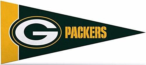 Green Bay Packers Felt Pennant - Zipperstop Official Licensed Green Bay Packers NFL Mini Pennant, 4