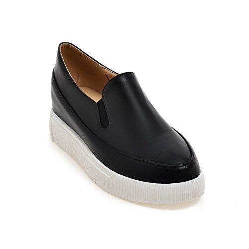 BalaMasa Girls low-heels pietra modello imitato in pelle pumps-shoes, Nero (Black), 35