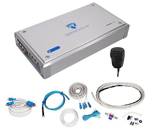 Rockville RXM-S30 Micro Marine/ATV Amplifier 2400w Peak 4 Channel 4x150W+Amp Kit