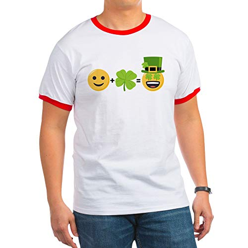 CafePress St Patty's Math Ringer T-Shirt, 100% Cotton Ringed T-Shirt, Vintage Shirt ()