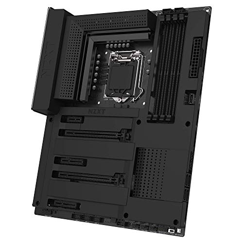 NZXT N7 Z390 – Designed with Intel Z390 Chipset (Supports 8th/9th Gen CPUs) – ATX Gaming Motherboard – Integrated I/O Shield – Intel Wireless-AC 9560 – Bluetooth V5 – Two M.2 Connectors – Black
