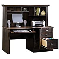 Harbor View Computer Desk with Hutch( Antiqued Black Paint )