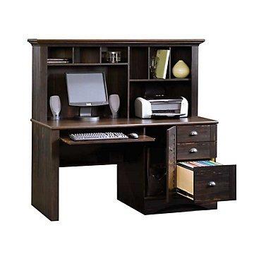 Harbor View Computer Desk with Hutch( Antiqued Black Paint )
