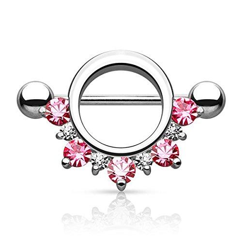 Piercing téton alicia cz rose