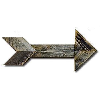 Arrow Barnwood Decorative Arrows Barn Wood Display Sign, Gray, Red, Black(Grey)