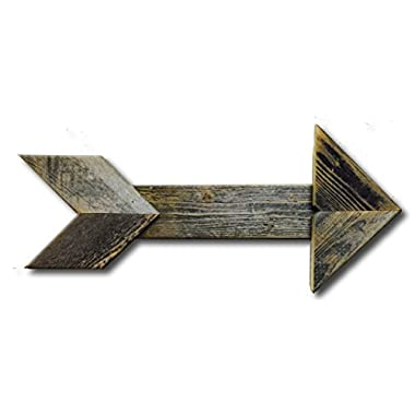 Arrow Barnwood Decorative Arrows Barn Wood Display Sign, Gray, Red, Black(Grey)