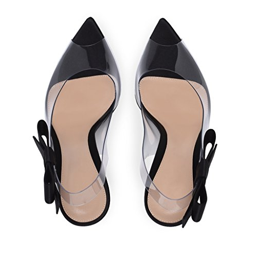 Mouth Simple Black Women's Girl's Sandals High Heels Fashion Fish Open Toe Party 5XX1qw