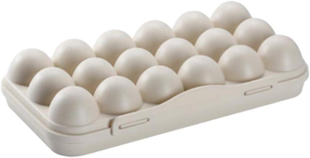 Khaki 12 Egg 18 Huevos Port/átil F Fityle Hueveras Cesta Huevera para Tapa de Prueba de Insectos para Guardar 12 Huevos