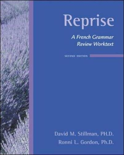 (Reprise:  A French Grammar Review)