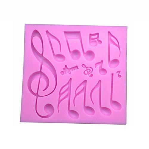 0.9cm 10.8 Ruikey Molde de Silicona para Fondant,Notas Musicales Molde del Jab/ón,Molde para Hornear,Moldes Reposter/ía Silicona 11.3