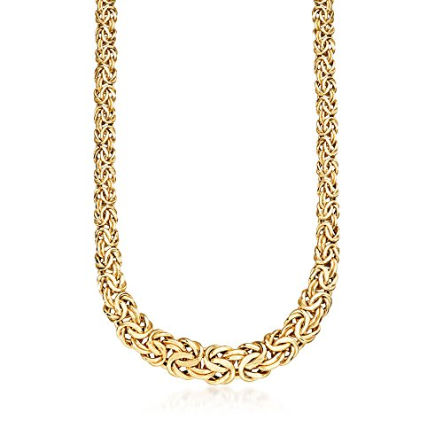 Ross-Simons Italian 14kt Yellow Gold Graduated Byzantine - Necklace Byzantine Graduated