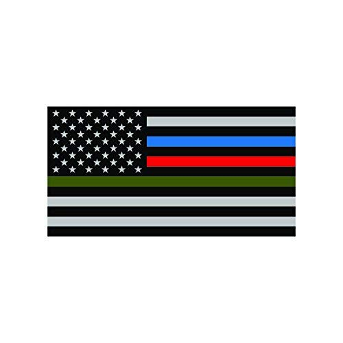 (Magnet Thin Blue Line Police Firefighter Military Flag Magnetic Vinyl Car Magnet Bumper Sticker)