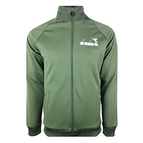 Diadora Zip Up Poly Sweatshirt Jacket GREEN petroleum - Giacca con zip felpa sportiva VERDE PETROLIO