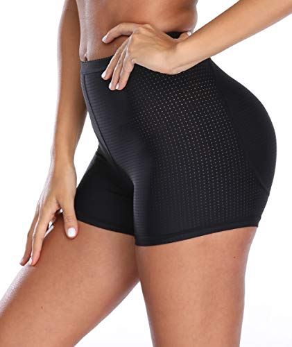 NINGMI Womens Butt Lifter?Padded Panties Hip Enhancer Shapewear Control Boyshort Mesh Seamless ()