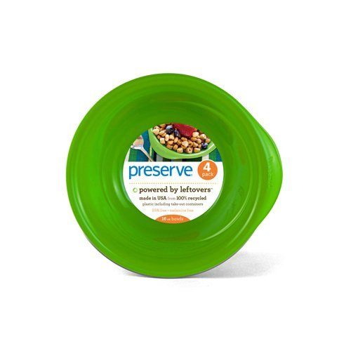 Preserve Mixing Bowls - Preserve Everyday Bowls - Apple Green - Case Of 8 - 4 Pack - 16 Oz