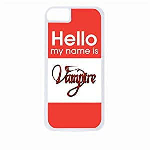 Hello My Name Is Vampire-Hard White Plastic Snap - On Case-Apple Iphone 5C Only - Great Quality!
