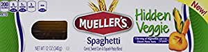 Mueller's Hidden Veggie Pasta, Spaghetti, 12 Ounce (Pack of 6)