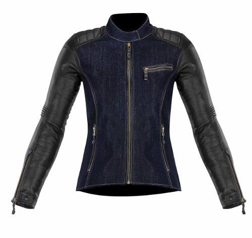 Alpinestars Womens Stella Renee Textile Leather Jacket 2013 Blue Black US 2 EU 38