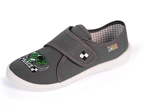 Nazo - Zapatillas de estar por casa de algodón para niño gris/blanco