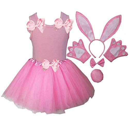 Kirei Sui Kids Costume Tutu Set 120 Pink Bunny]()