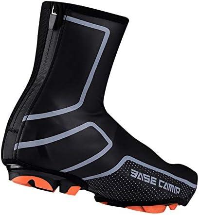 サイクリングシューズカバー 自転車用靴カバー暖かい乗馬多機能防水靴カバー乗馬用品 シューズカバー (Color : Black, Size : L)
