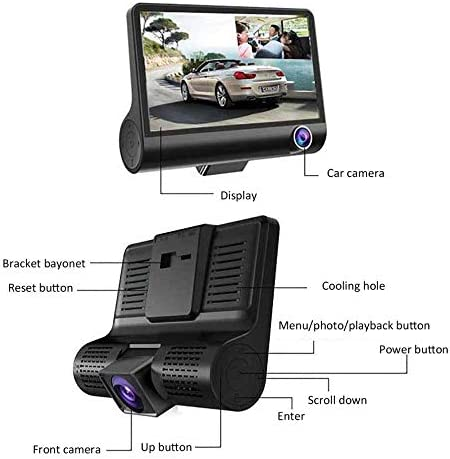 D319 Three-Record Hd Night Vision Driving Recorder Concealed