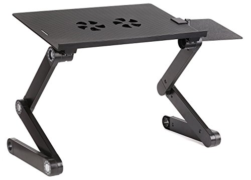 Accuon Adjustable Vented Laptop Table Computer Desk, Light Aluminium Alloy up to 17
