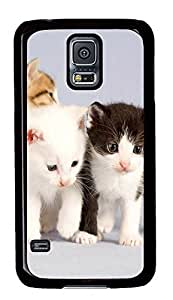 Samsung Galaxy S5 The Cute One Pair Of Black And White Cat PC Custom Samsung Galaxy S5 Case Cover Black