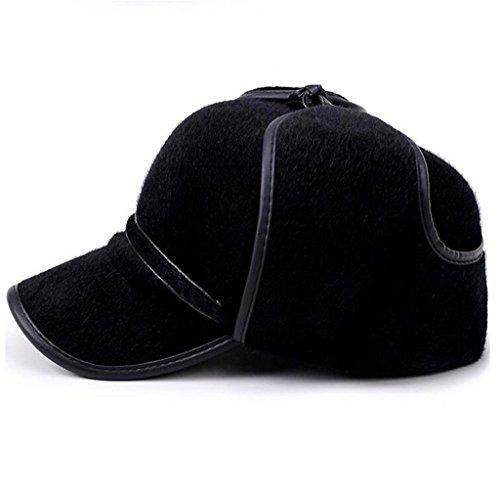 hombres Hat auditiva exterior calentar la de de Middle Aged invierno algodón esponjoso Gorro ZHAS protección tapa pUZwZ