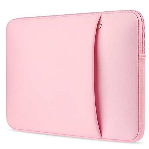 """Price comparison product image 360° Protective Carrying Case 15.4"""",  Compatible 15 Inch New MacBook Pro with Touch Bar (A1990 / A1707) 2018 2017 2016,  Shockproof Laptop Sleeve Also Fit 14 Inch Notebook Tablet Bag with Pocket, Pink"""