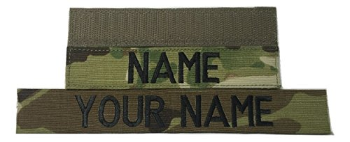 Customized Name Tape, with Fastener or Sew-On, ACU Multicam OCP Black ABU OD Green Desert Tan NavyBlue - Custom - US ARMY USAF USMC POLICE CivilAirPatrol Tape, Customized (Multicam OCP, With Fastener)