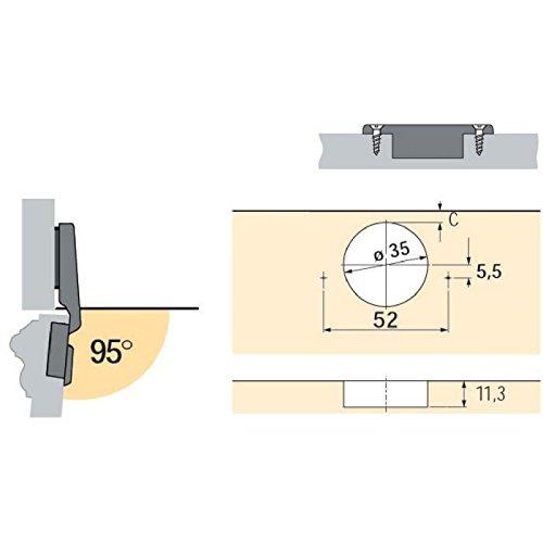 Hettich Intermat 9936-T42 Charnieres /& Compas