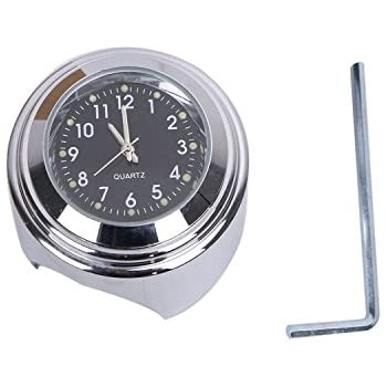 White Temp Thermometer Waterproof Fits For Yamaha XVS Crusier TCMT 7//8 1 Motorcycle Handlebar Chrome White Dial Clock