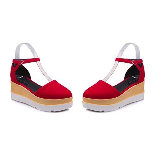 Cuña Summer Toe Mujer Bohemia Floral para Red Confort del Playa Sandalias Zapatos Verano Tacón Sandalias Plataforma Peep Caminar wXq88FAt