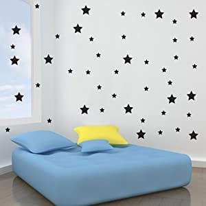 Vinyl Concept Star Wall Stickers Removable Easy To Remove Art - Custom vinyl wall decals canada   how to remove